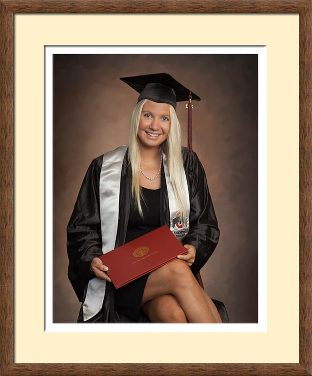 framed graduation portrait